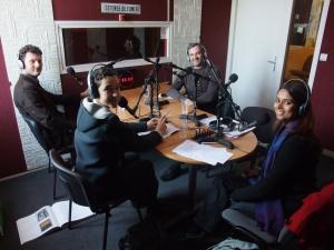 De gauche à droite: Gwilherm Perthuis, Perrine Lacroix, Yvan-Axel Vial et Solenne Livolsi.